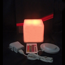 Small size 10cm led light cube LED table lamp Waterproof in swimming pool free shipping 2pcs/lot