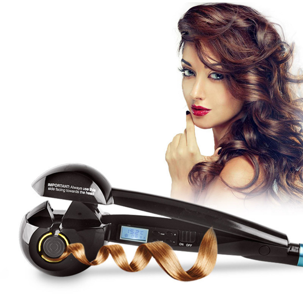 Magic Hair Curler Automatic LCD ScreenCurling Iron Heating Hair Care Styling Tools Ceramic Wave Hair Curl