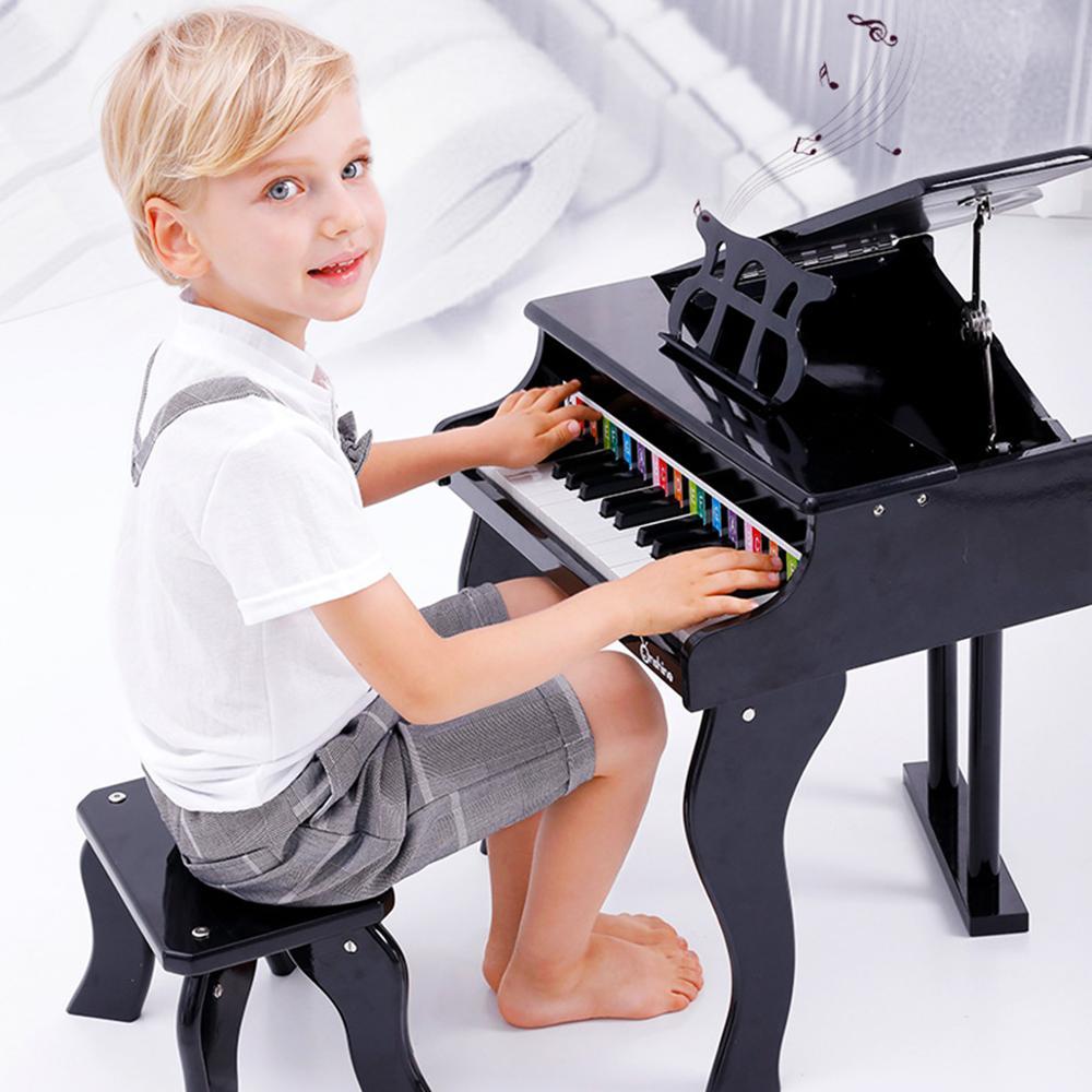 Educazione Della Prima Infanzia in Legno Meccanico Pianoforte Simulazione Musica Musicale Apprendimento Educativi Strumenti di Lusso Giocattolo Del Capretto Del Regalo
