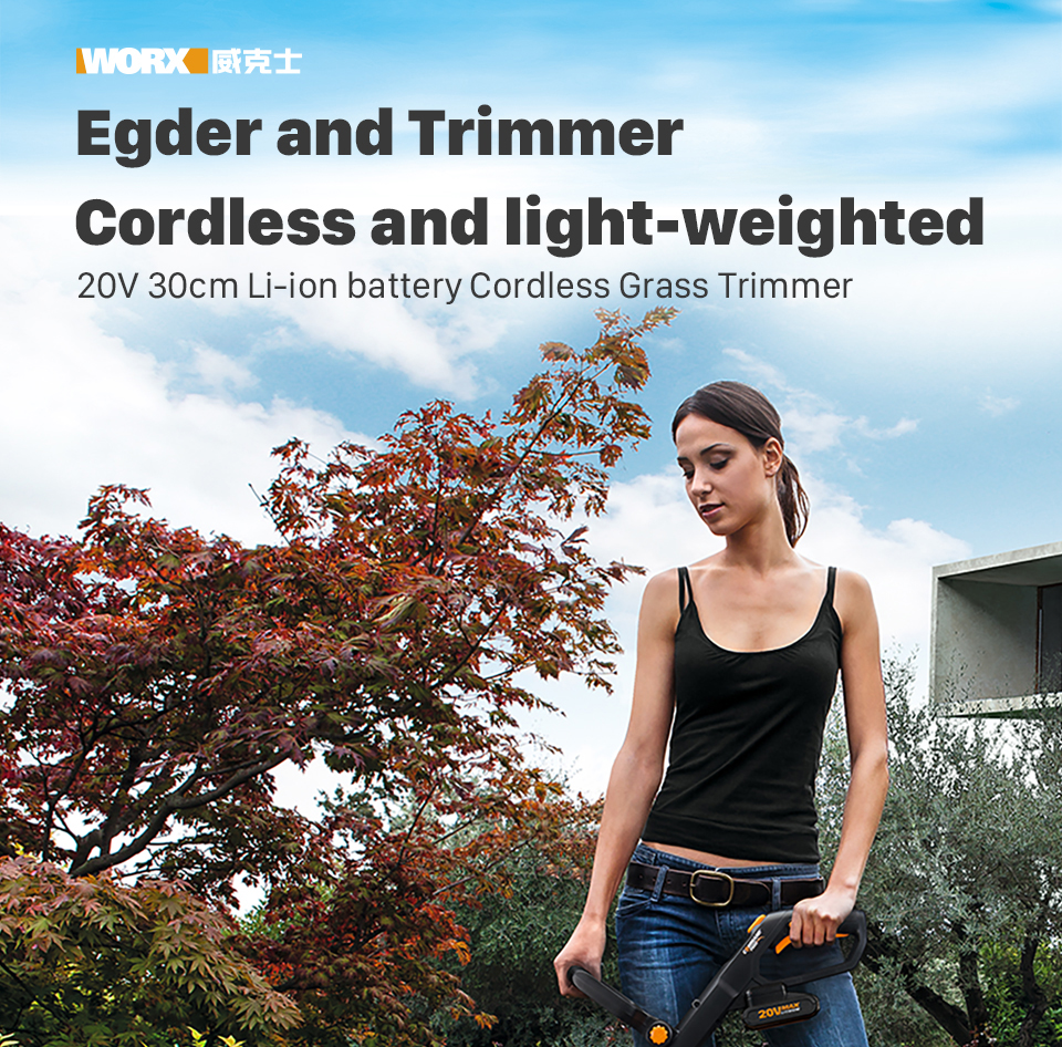 Worx Egder and Trimmer Cordless and Light weighed Trimmer