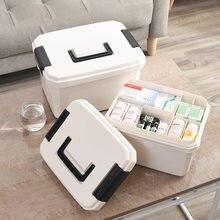 Boîte à médicaments Portable à domicile, Kit de premiers soins multifonctionnel, boîte de rangement en plastique, hôpital, pharmacie, boîte de premiers soins