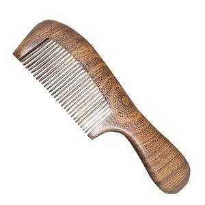 Деревянный салон талии аромат антистатический длинный широкий зуб Detangle домашний натуральный сандаловый гребень массажные инструменты для волос для женщин