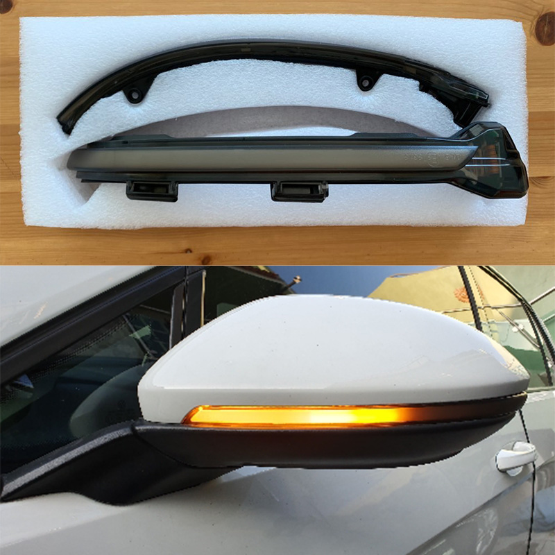 Dynamic Turn Signal Led Rearview Mirror Indicator Light For-V W Golf Mk7 7.5 7 G Ti R Gtd