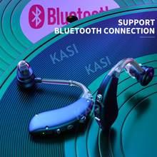 AMPLIFICADOR DE OÍDO inalámbrico para ancianos, Mini soporte auditivo recargable por Bluetooth, Ayuda de oído inalámbrico para pérdida leve a severa