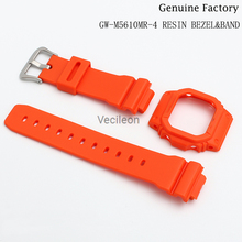 Watchbands Bezel GW-M5610 GLX-5600 Cover-Accessories Resin for with Tools Orange