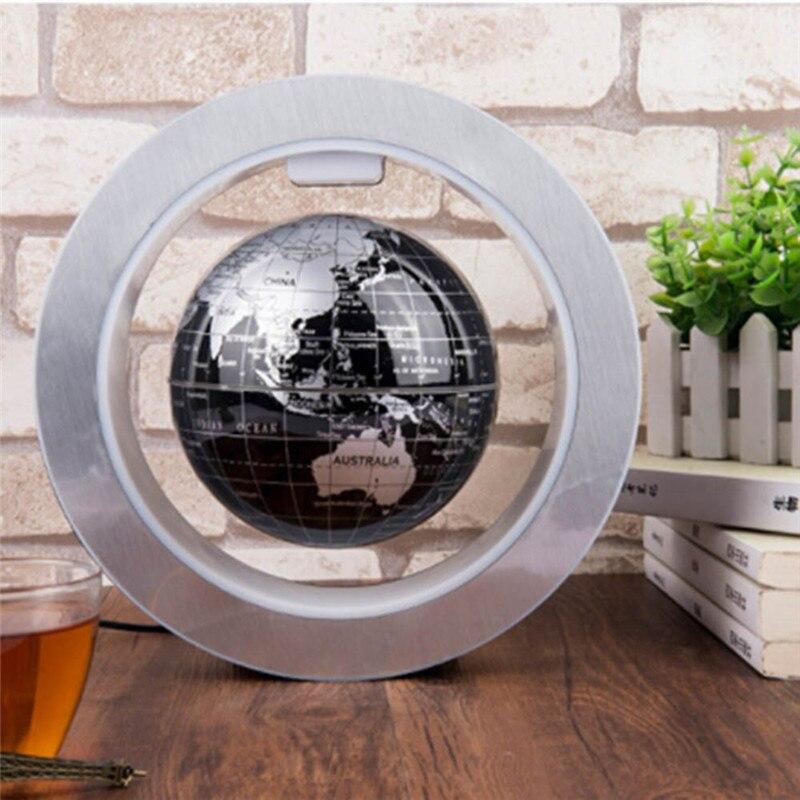 Image 5 - 4 インチラウンド LED グローブ磁気浮上グローブ地理浮上回転ナイトランプ世界地図学校の事務用品家の装飾    グループ上の ホーム