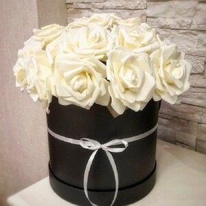 Image 2 - 10 ראשי 8CM די מקסים פרחים מלאכותיים PE קצף רוז פרחי כלה זר בית חתונת דקור רעיונות DIY ספקי