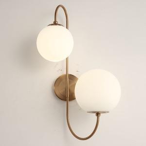 Image 2 - Modern nordic Glass Meta black/gold ball Retro Vintage Wall lamp E27 Loft for cafe bedroom foyer