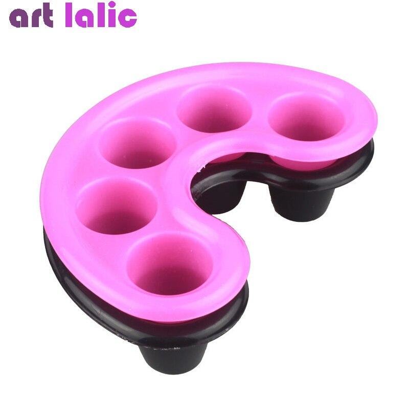 1 шт., миска для маникюра для пальцев, черный и розовый цвет, акриловый наконечник для маникюра, инструменты для спа-процедур