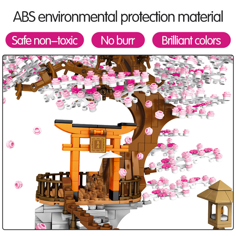 SEMBO Sakura Inari Shrine Bricks