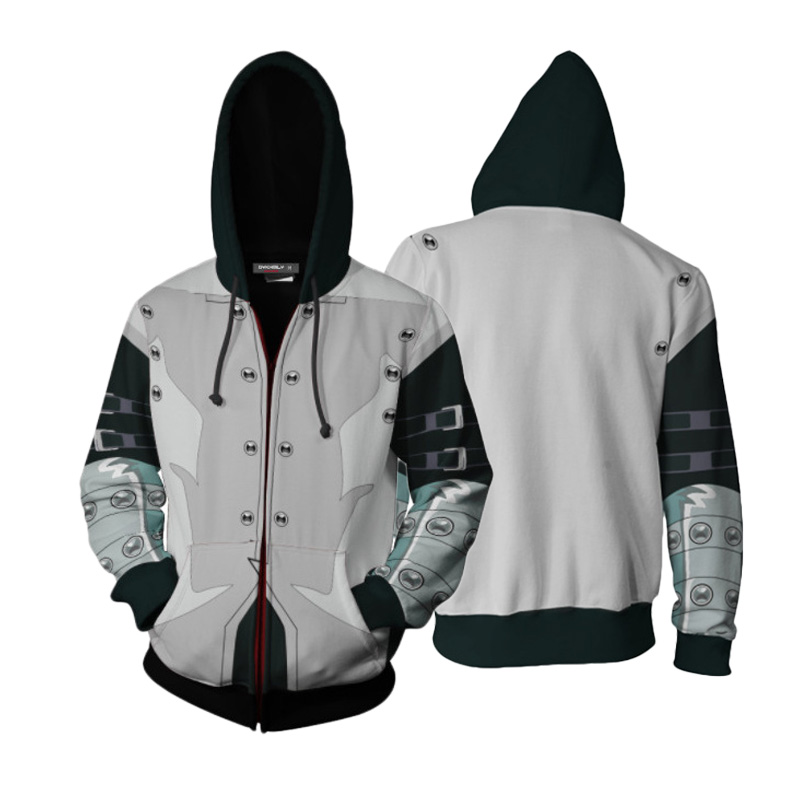 Yu-Gi-OH Anime Hoodie Jacket Sweatshirt Seto Kaiba Cosplay Hooded Coat  Costume