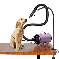 Adjustable Stainless Steel Bracket For Pet Grooming Table Dog Cat Hair Dryer Holder Pet Bathing Beauty Hair Blower Support F6026