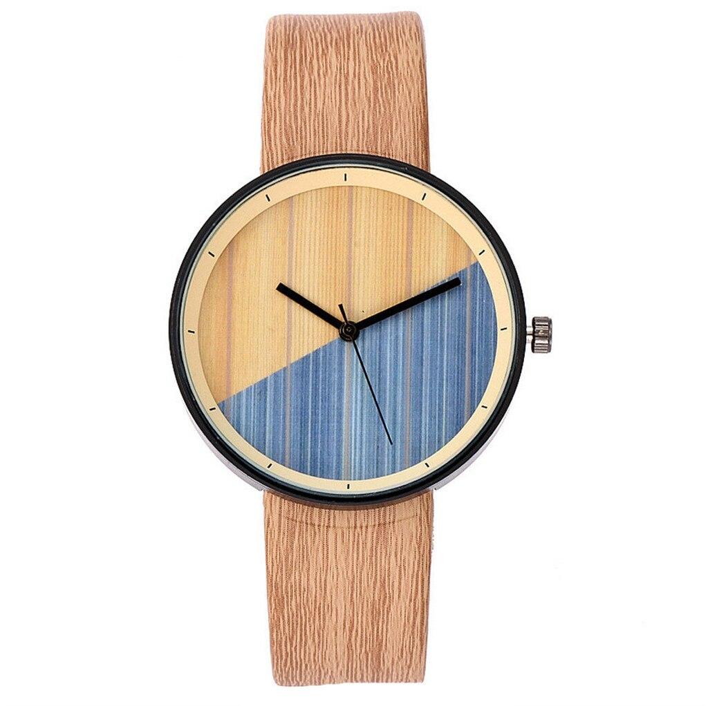 DUOBLA Women Watches Luxury Brand Quartz Wristwatches Ladies Watch Quartz Wrist Watch Fashion Wood Grain Strap Free Shiping