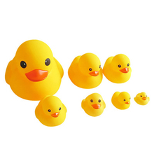 Huilong Silicone Small Yellow Duck Toy  Play Water Ducks Sounds Will Be Called Children's Educational Toys Pinch Called Duck