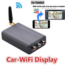 Car Navigation Wireless Wifi Mirroring Box Display Dongle Adapter for IPhone X XS MAX XR 11 7 8 Android Phone To HDMI AV TV Car