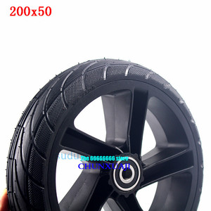 Image 4 - For Xiaomi Ninebot ES1 ES2 ES4 Electric Scooter rear wheel 200x50 Explosion Proof solid tyre 8 inch alloy wheel hub wheel tyre