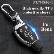 Hight quality PC+TPU key case cover Key protective shell holder for Mercedes benz A B R G Class GLK GLA E200 E200L W176