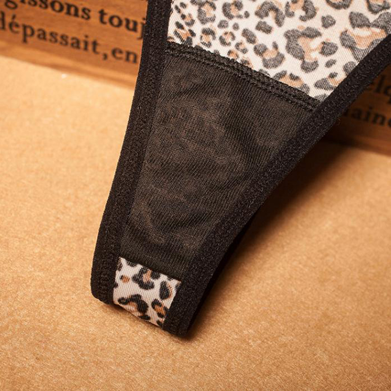 Mesh Sheer Underwear Women Leopard Lace Panties Lingerie Women Thongs Panties Breathable Sexy Briefs Women Sous Vetement Femme