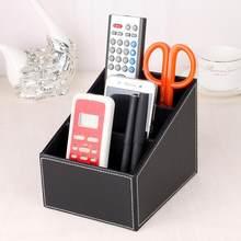 Casa de Telefone E TV de Controle Remoto Caixa De Armazenamento De Couro Caixa De Armazenamento Titular Organizador da Mesa de Escritório Em Casa