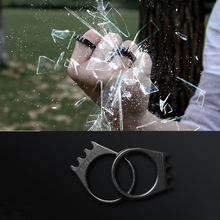 EDC Outdoor Titanium steel Ring High Quality Self Defense