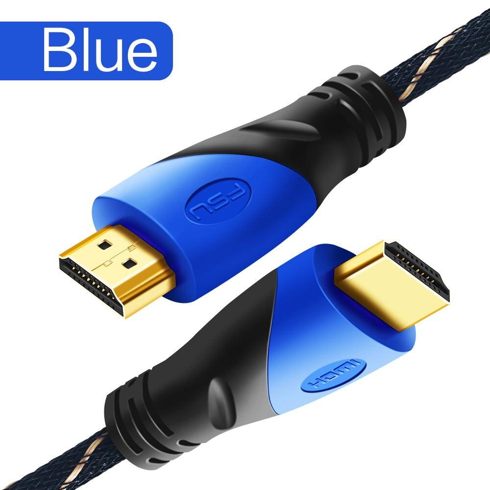 Fsu Hdmi-Compatibele Kabel Video Kabels Vergulde 1.4 4K 1080P 3D Kabel Voor Hdtv Splitter Switcher 0.5M 1M 1.5M 2M 3M 5M 10M 7