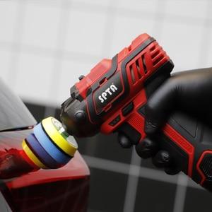 Image 5 - SPTA 12V bezprzewodowe zestawy narzędzi do polerowania samochodu, wiertarka akumulatorowa o zmiennej prędkości polerka, akumulator litowo jonowy 1500mAh z szybką ładowarką
