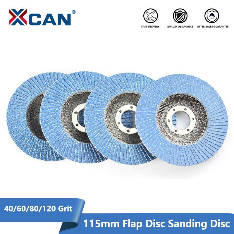 XCAN Flap Discs Sanding Discs 115mm 4.5 Inch 40/60/80/120 Grit Grinding Wheel Blade For Angle Grinder Abrasive Tool Sanding Disc