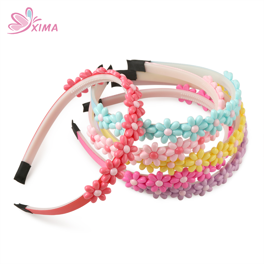 10pcs Multicolor Princess Crown Hair Tiara Headband Plastic Hair Band With Teeth