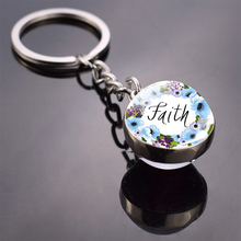 Silver Keychain  God Is Within Her. She Will Not Fall  Bible Quote Keyrings Glass Round Ball Keychain Faith Jewelry god is in your keychain charm pendant gift for her faithful charm key chain god is in her heart she will not poetry charm