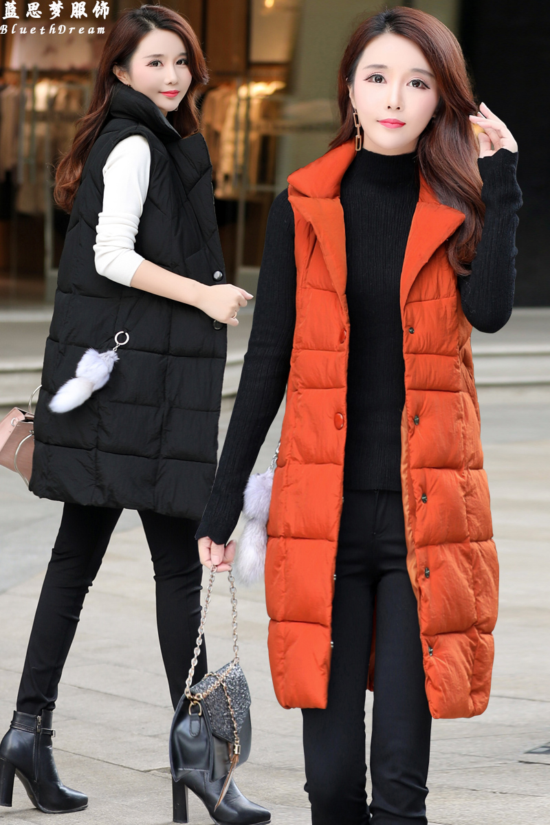 Cheap Wholesale 2019 New Autumn Winter  Hot Selling Women's Fashion Casual Female Nice Warm Vest Outerwear FP322