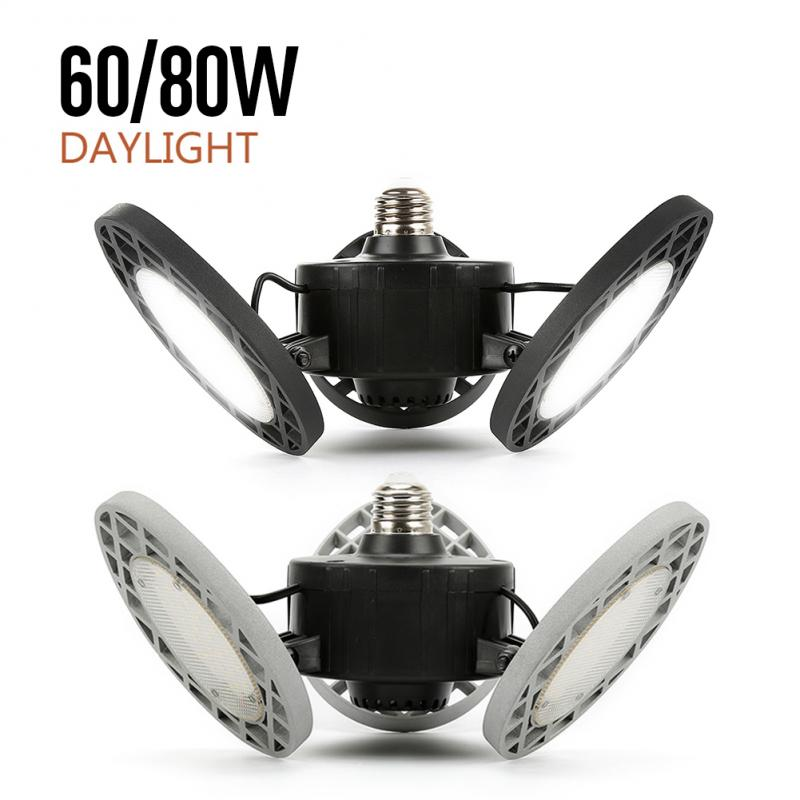 Super Bright 60/80W E26 LED High Bay Light Garage Lamp AC 85-265V  Industrial Lighting 6000k/8000K For Warehouses Wine Cellar