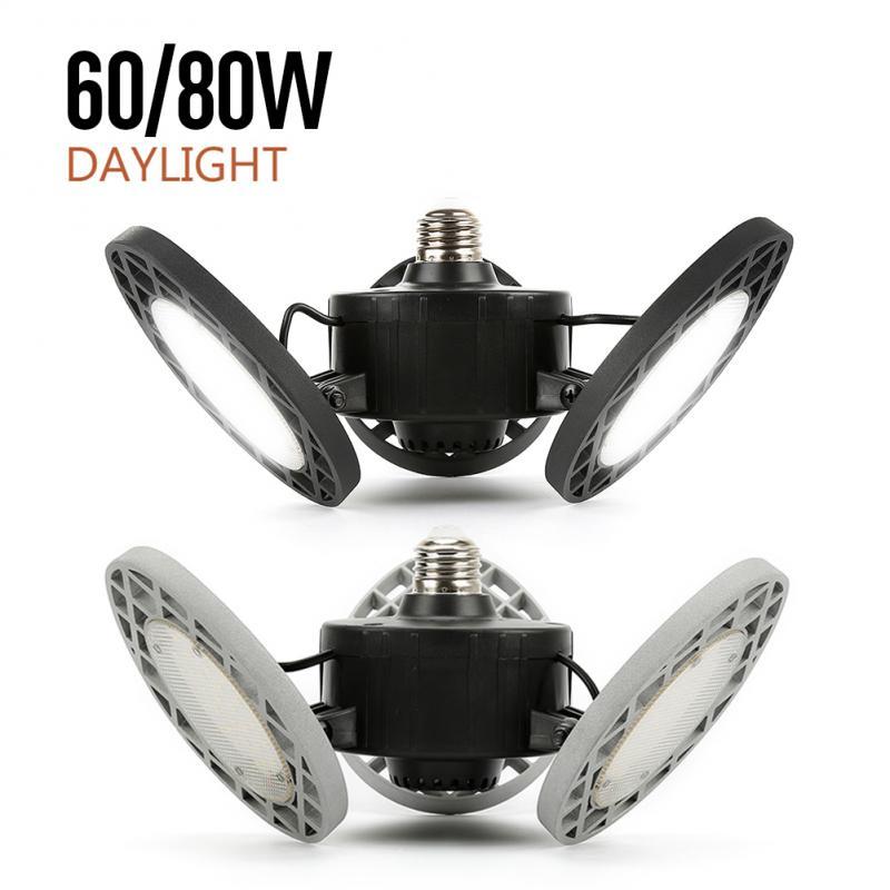 Super Bright 60/80W E26 LED High Bay Light Garage Lamp AC 85-265V  Industrial Lighting 6000k/8000K For Warehouses Wine Cellar