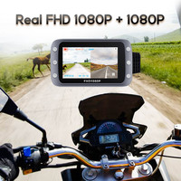 Maiyue star Full HD Dash Cam 1080P + 1080P WiFi Motorcycle DVR Waterproof Front and Rear View Motorcycle Camera GPS Recorder Box