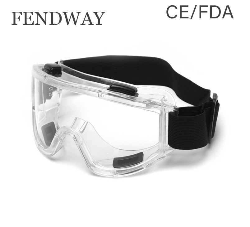 CE/FDA Certificated Lab Standard Safety Goggles Glasses Protective Anti Fog Chemical Eyewear