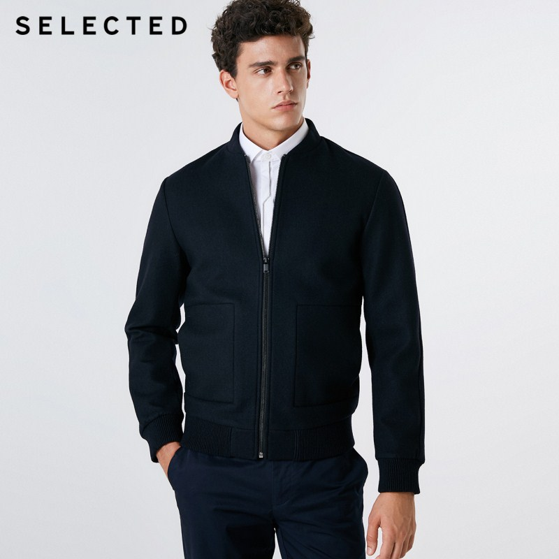 SELECTED New Men's Wool Coat Baseball Collar Winter Clothes Business Casual Jacket S | 418327501