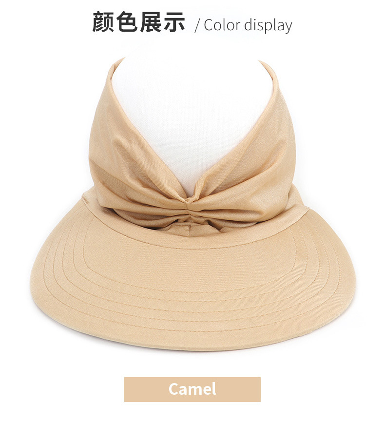 DEWADBOW Summer Women Men Sun Hat Candy Color Empty Top Soft Breathable Sunscreen Hat Visor Caps Bicycle Sunshade Hats