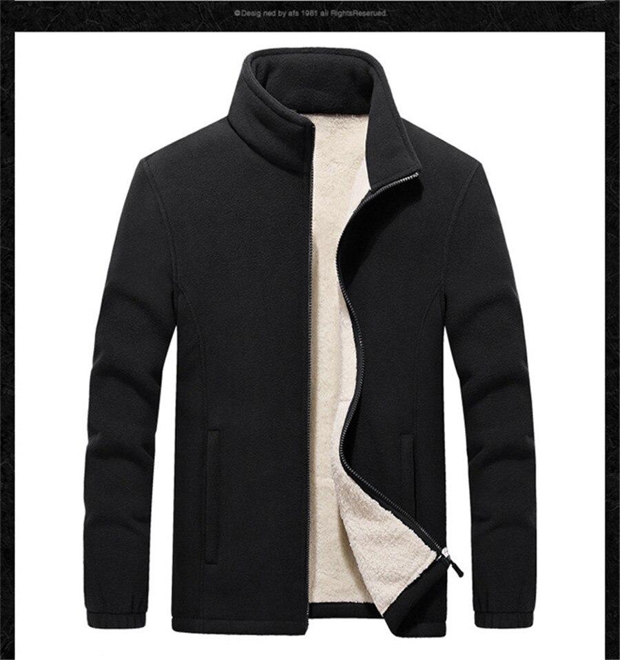 Outono jaqueta de lã masculina inverno quente