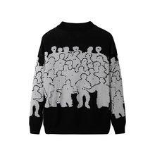 Moda sweter mężczyźni bawełniana haftowana Pull Homme sweter mężczyźni odzież koreańskie ubrania Oversize, z dzianiny sweter płaszcze nie rzucić 3XL