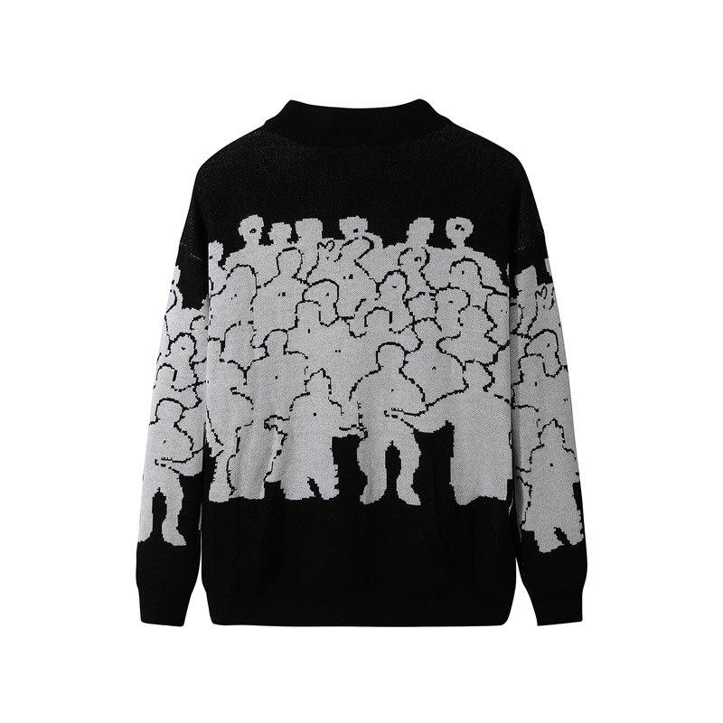 Mode Pull hommes coton broderie Pull Homme Pull hommes vêtements coréen vêtements surdimensionné tricoté Pull manteaux pas de quitter 3XL