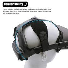Acessórios de vr fone de ouvido confortável plutônio antiderrapante para oculus quest fácil limpo almofada espuma couro macio faixa cinta durável