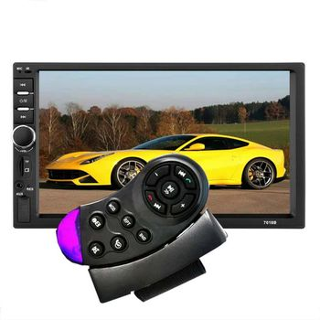 Hot 7010B 7012B 7018B Universal Steering Wheel Wireless Remote Control Simple Purple Black For Car MP5 image
