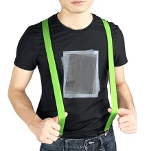 LED Glow Light Up Suspenders Adjustable Elastic Outdoor Sports Warning Chest Strap WWO66