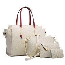 Ceossman Famous Brand Women Bag Top-Handle Bags Fashion Lady Shoulder Bag Handbag Set PU Leather Bag Women's Handbags 4pcs/set