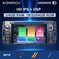 4G 1 Din Android 10Car DVD Player For Jeep Grand Cherokee Chrysler 300C Compass Patriot Dodge SebringGPS Navigation Radio Stereo