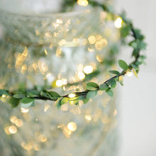 String light Decoration Plastic Artificial Flower Vine String light Wedding Home Wall Decoration Christmas decoration LED lights(China)