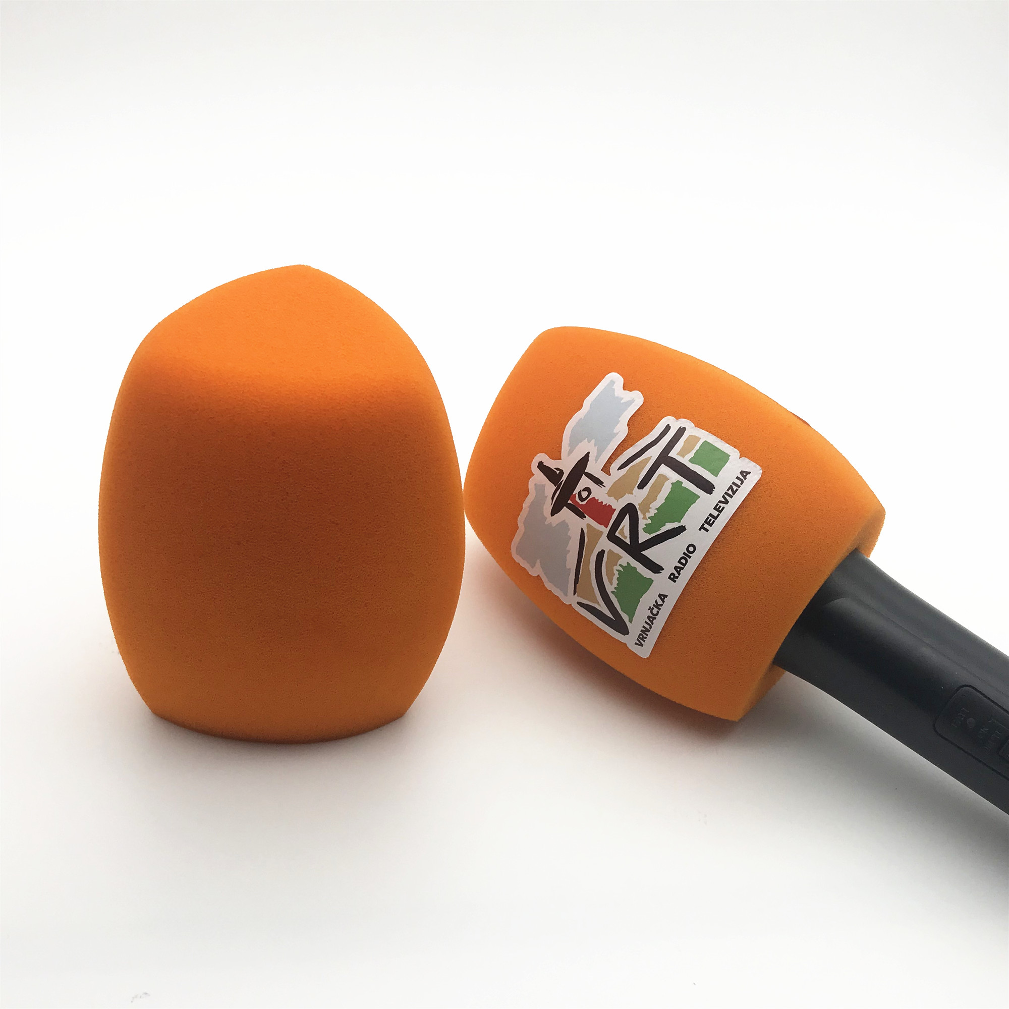 Linhuipad O15 Orange Color Microphone Windscreens Customize Logo Handheld Windshield For Sennheiser Microphone 4CM(1.57in)