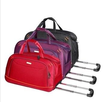Women travel luggage trolley bag men travel duffle Bags with wheels wheeled bag woman Travel Baggage Travel Rolling luggage bags фото