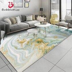 Bulle baiser Style nordique abstrait pierre motif tapis vert clair or cristal velours tapis pour salon personnalisé tapis