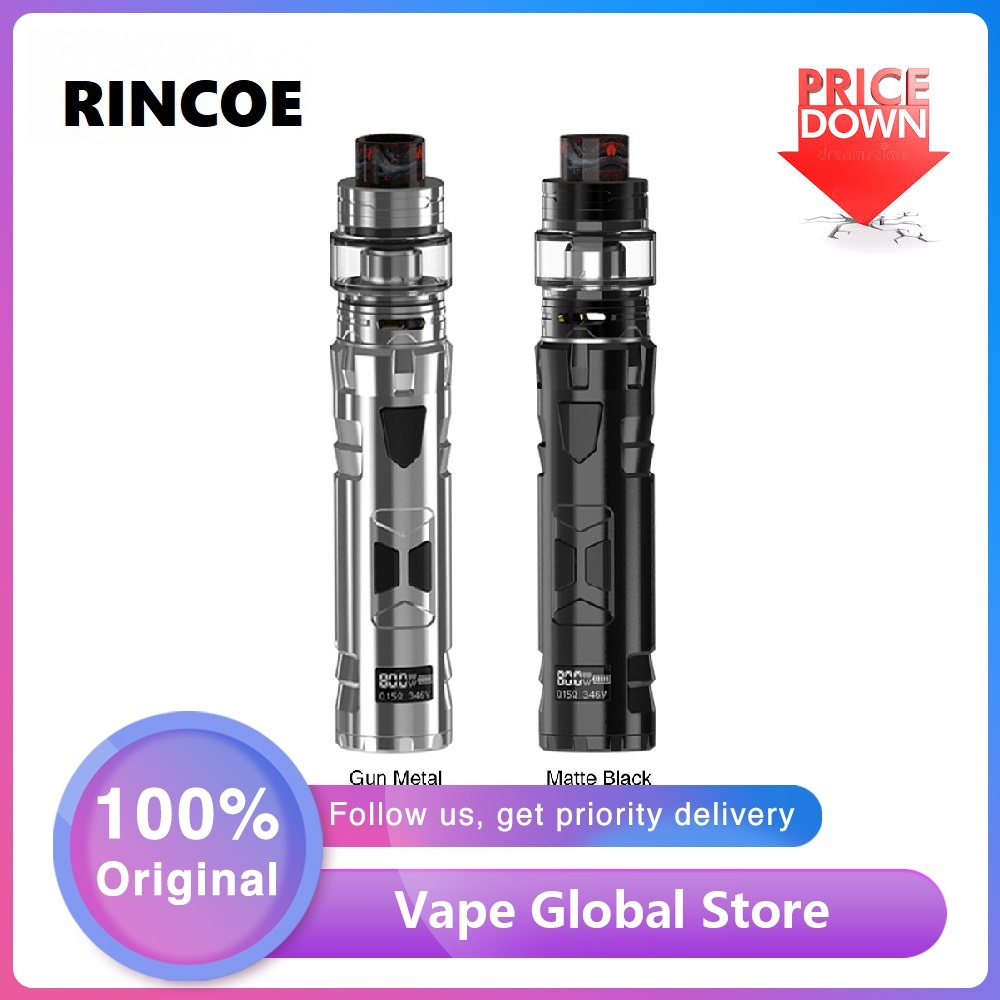 NEW Original Rincoe Mechman 80W TC Kit With E-cig Vape Box Mod & 4.5ml Mesh Tank Portable E-cigarette Kit Vs Shogun / Luxe Kit