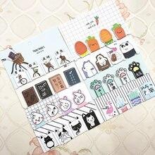 4 sztuk/zestaw Cactus Bear cat magnetyczne zakładki książki Marker strony papiernicze szkolne materiały biurowe Student nagroda nagroda